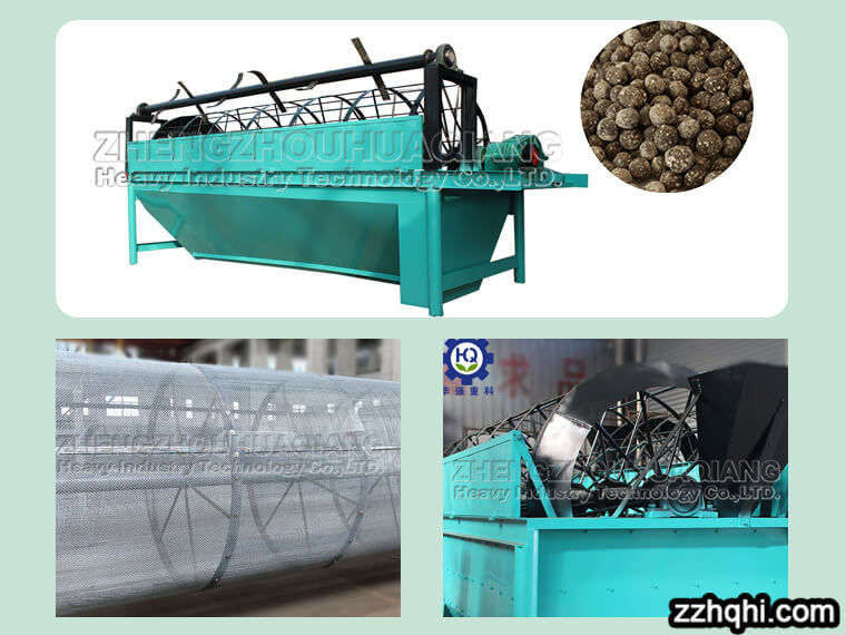 fertilizer production equipment of drum screening machine