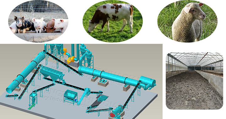 Price of pig manure organic fertilizer production line